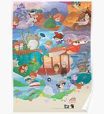 Miyazaki Fresco  Poster