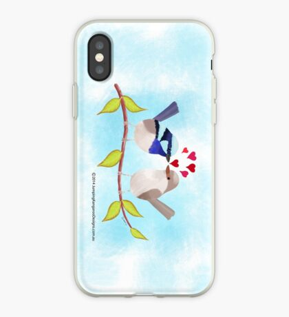 Adorable Blue Wren Birds in Love iPhone Case