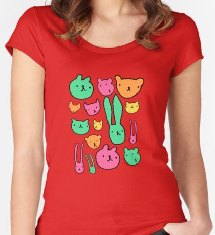 animals two Women's Fitted Scoop T-Shirt