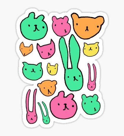 animals two Sticker