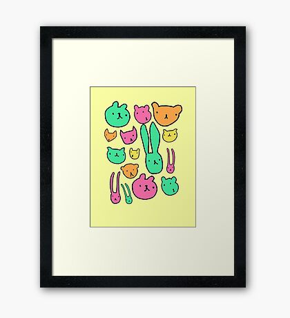 animals two Framed Print