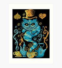 cat evil Art Print