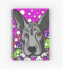 Wolf Dog Multi Coloured Mushrooms  Spiral Notebook