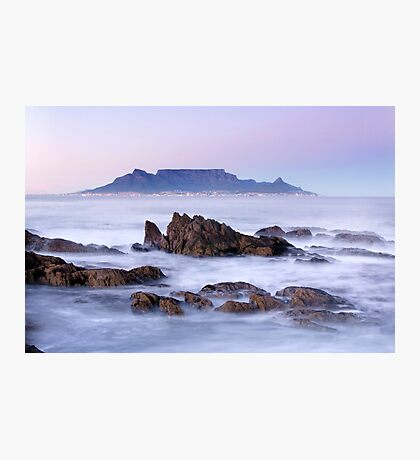 Dawn Over Bloubergstrand, Cape Town, South Africa Photographic Print