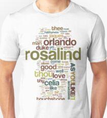 Shakespeare's As You Like It Wordplay Unisex T-Shirt