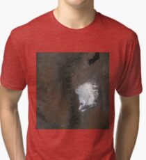 Spaceport America and White Sands New Mexico Satellite Image Tri-blend T-Shirt