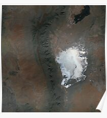 Spaceport America and White Sands New Mexico Satellite Image Poster