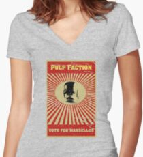 Pulp Faction - Marsellus Women's Fitted V-Neck T-Shirt