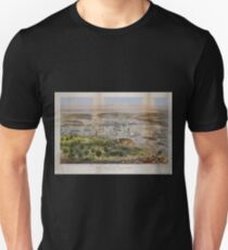 Camiseta unisex 593 The Port of New York bird's eye view from the Battery looking south