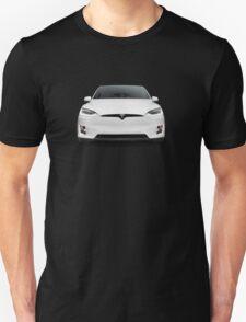 White 2017 Tesla Model X luxury SUV electric car front art photo print Unisex T-Shirt