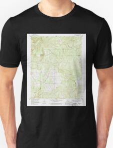 USGS TOPO Map Arkansas AR Jerusalem 258839 1990 24000 Unisex T-Shirt