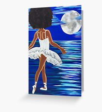 """Walking on Water"" Limited Edition Art Print - black art - black girl magic - Afro centric - African American Art  Greeting Card"