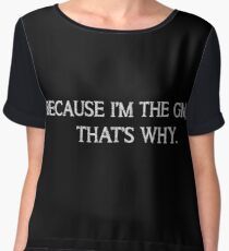 Because I'm the GM (Black) Chiffon Top