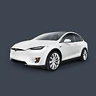 Tesla Model X luxury SUV electric car art photo print by ArtNudePhotos