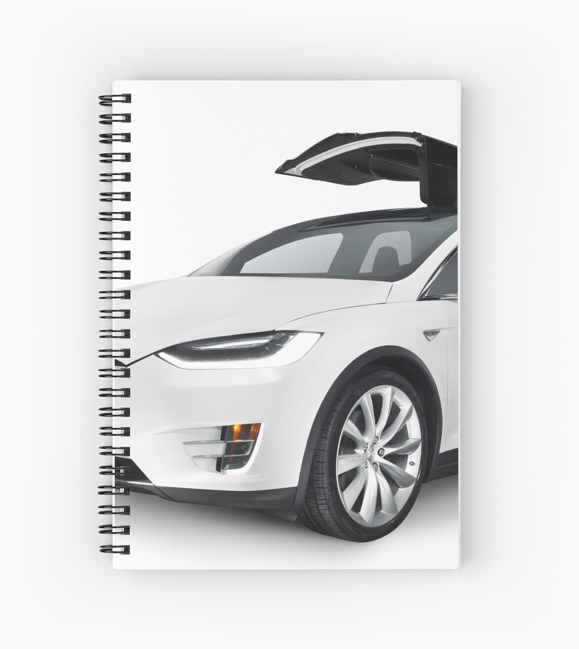 White 2017 Tesla Model X Luxury Suv Electric Car With Open Falcon