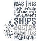 Marlowe Doctor Faustus Quote by Incognita Enterprises