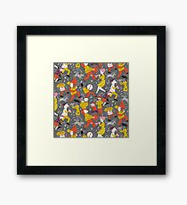 Mid Century Marching Band Parade Framed Print