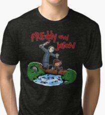 Freddy and Jason - C&H Mash Up Tri-blend T-Shirt