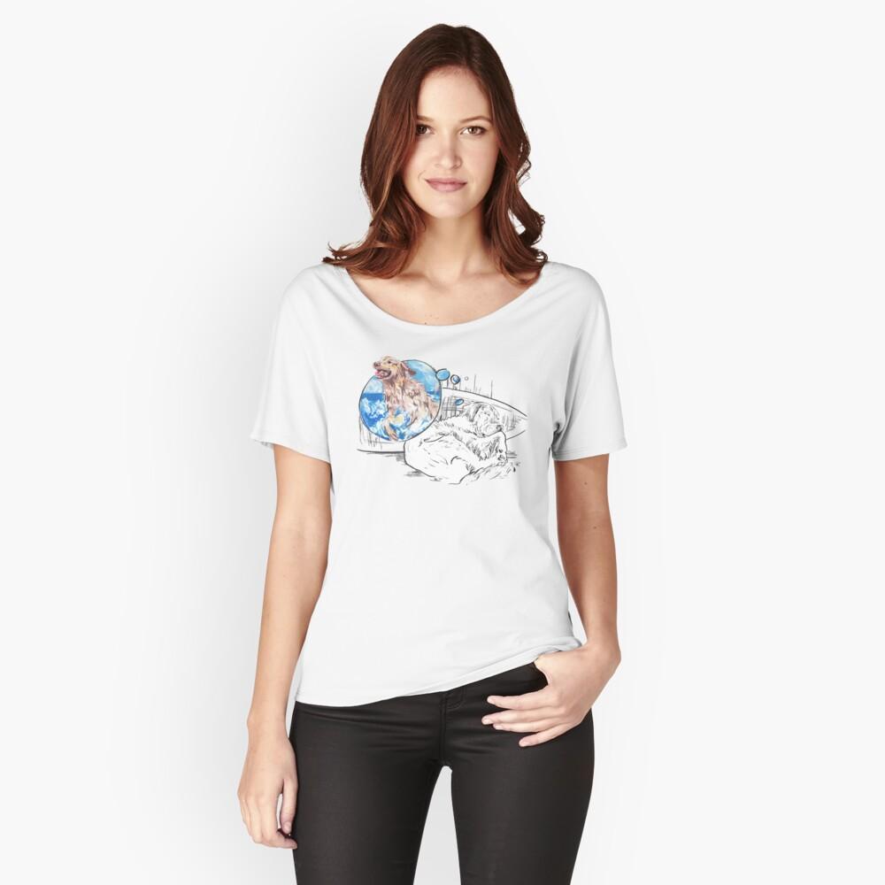 Sleeping Dog - The Golden Retriever Women's Relaxed Fit T-Shirt Front