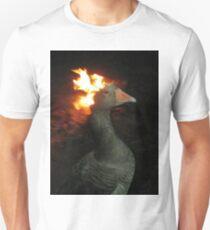 Fire Duck (goose on fire) Unisex T-Shirt