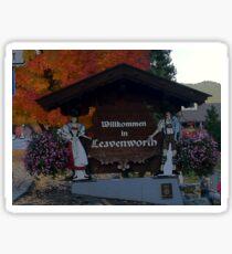 LEAVENWORTH WA. AT FALL TIME   Sticker