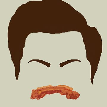 Ron Swanson Bacon Mustache  by ECink