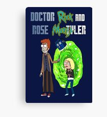 Doctor Rick and Rose Mortyler Canvas Print