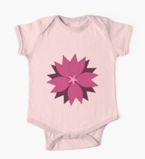 Pink vector flower digital art One Piece - Short Sleeve