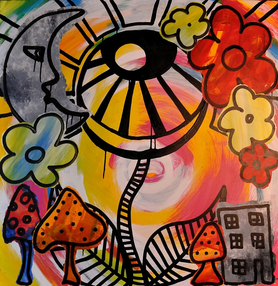 The Flower Is the Sun Is Watching by RoByn Thompson