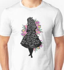 Alice in Wonderland Quote Silloette  Unisex T-Shirt