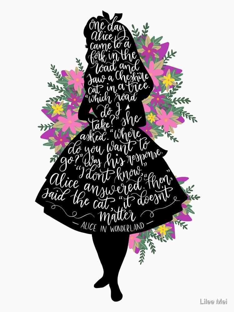 Alice im Wunderland Zitat Silloette von alwaysbookish