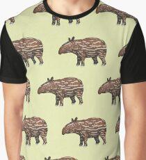 Animals of Malaysia - Baby Malayan Tapir  Graphic T-Shirt