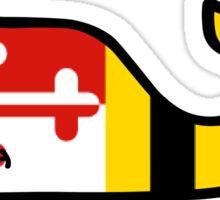 Maryland Flag Vineyard Vines Whale  Sticker