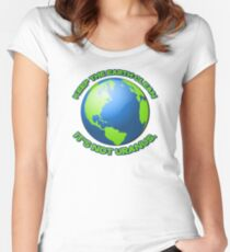 Keep the earth clean, it's not uranus Women's Fitted Scoop T-Shirt