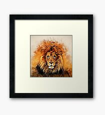 Liquid Lion Framed Print