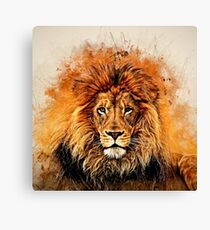 Liquid Lion Canvas Print