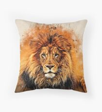 Liquid Lion Throw Pillow