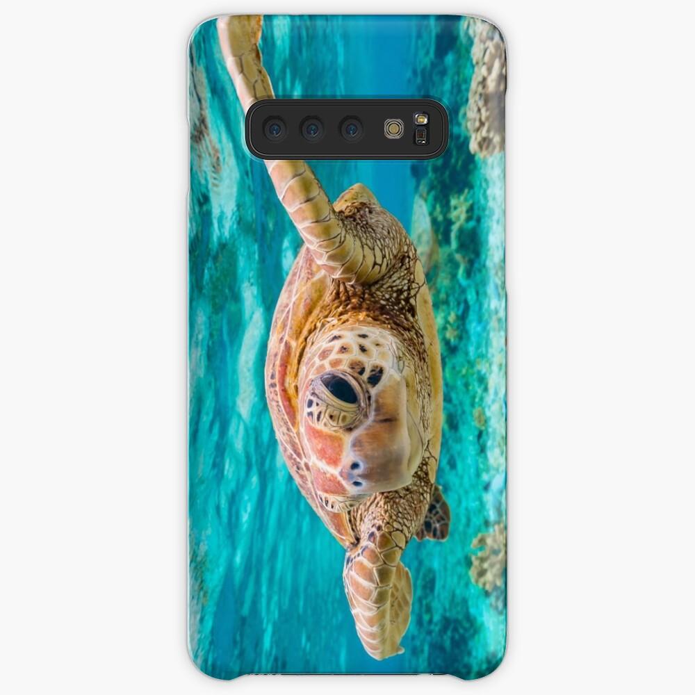 Guiño de tortuga verde Funda y vinilo para Samsung Galaxy