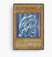 Blue-eyes white dragon Canvas Print
