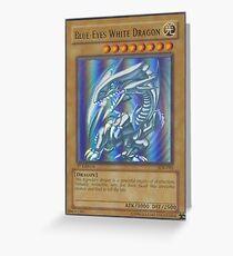 Blue-eyes white dragon Greeting Card