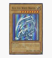 Blue-eyes white dragon Photographic Print
