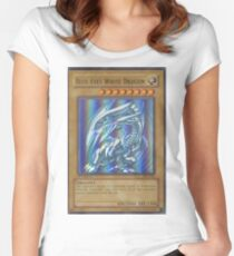 Blue-eyes white dragon Women's Fitted Scoop T-Shirt