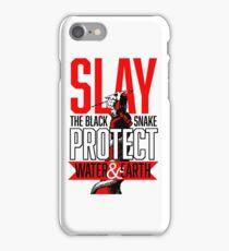 SLAY THE BLACK SNAKE #NODAPL iPhone Case/Skin