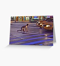 TAXI TARZAN Greeting Card