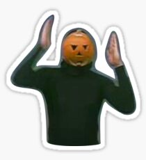 Pumpkin Head Dancer Sticker