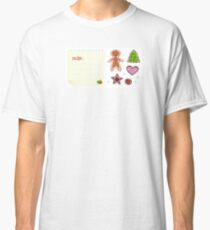 Cookies or christmas icons with recipe isolated on white Classic T-Shirt
