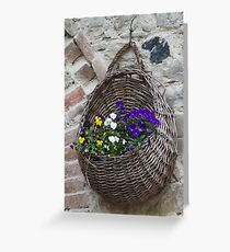 basket with flowers Greeting Card