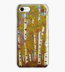 Birch trees-3 iPhone Case/Skin