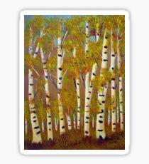 Birch trees-3 Sticker