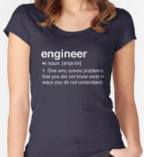 Funny Engineer Definition Women's Fitted Scoop T-Shirt